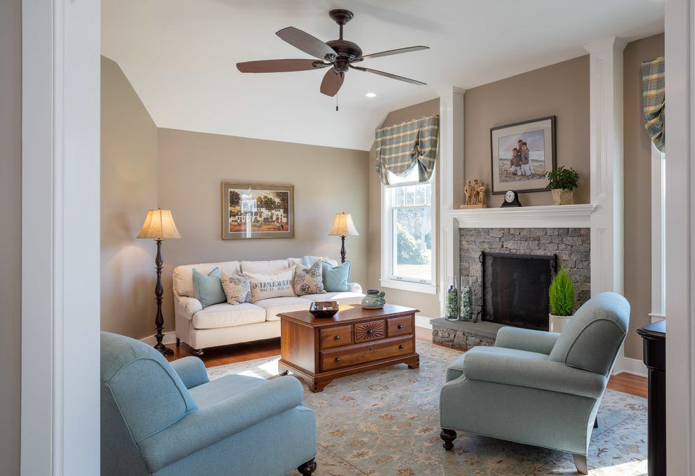 Sherwin Williams Tony Taupe Living Room Traditional With