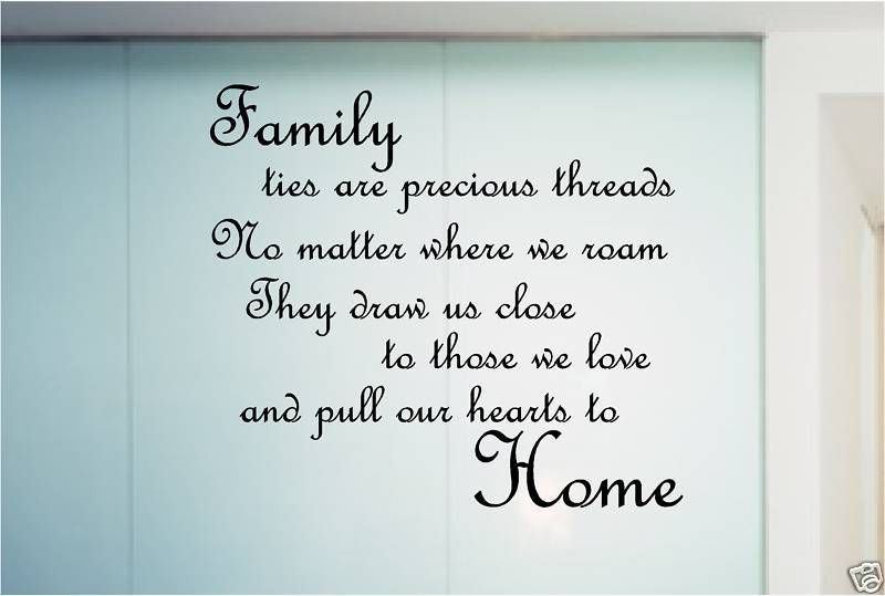 Family Poem Quote Sticker Wall Art Bedroom Kitchen