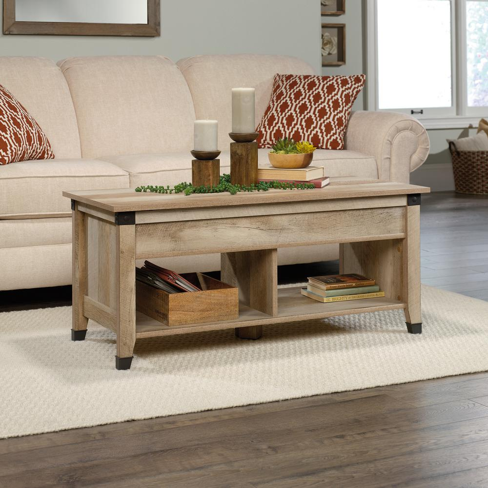 Sauder Lintel Oak Lift Top Coffee Table Coffee Table With Hidden