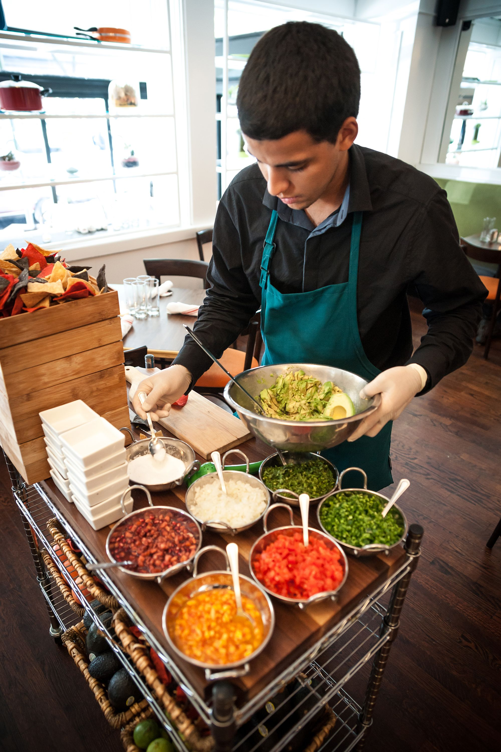 Restaurant Kitchen Stations guacamole station in action | ag kitchen - restaurant | pinterest