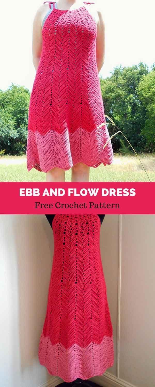 Ebb and Flow [ FREE CROCHET PATTERN   Pinterest   Maxikleider ...