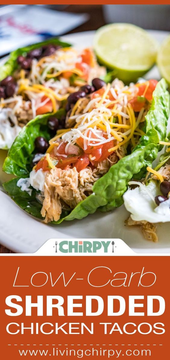 Low-Carb Shredded Chicken Tacos #deliciousfood