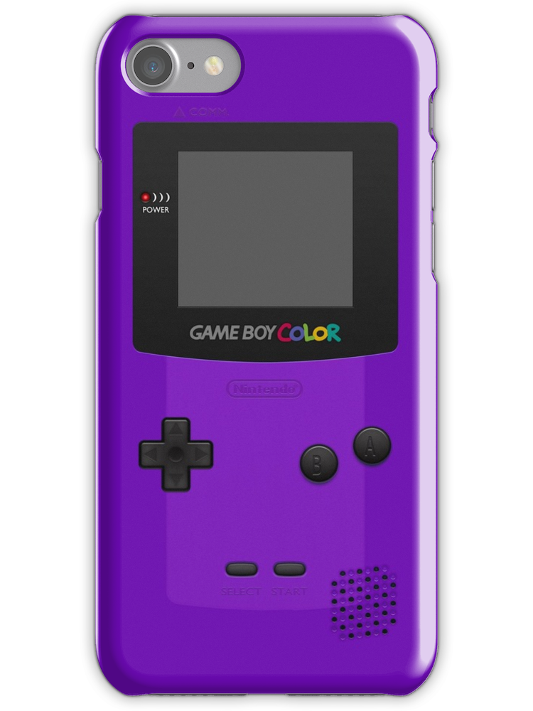 Purple Nintendo Gameboy Color Iphone 7 Snap By Iphone Case Covers Gameboy Iphone Cases