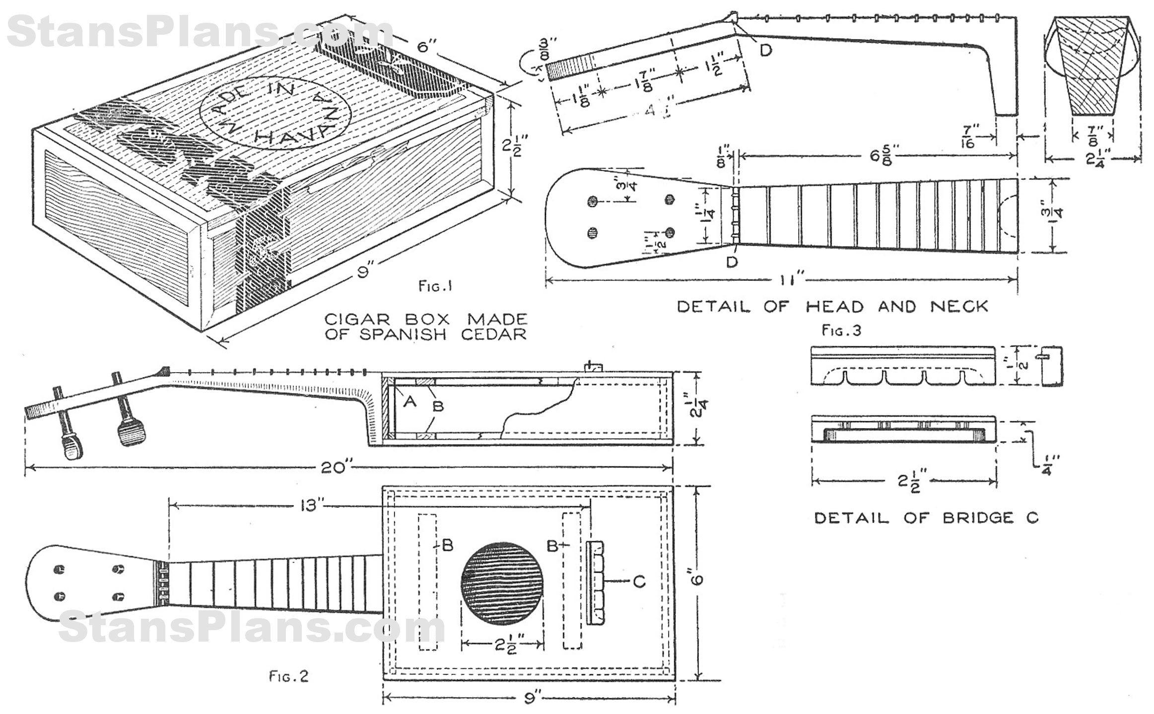 cigar box ukulele plans [ 2325 x 1439 Pixel ]