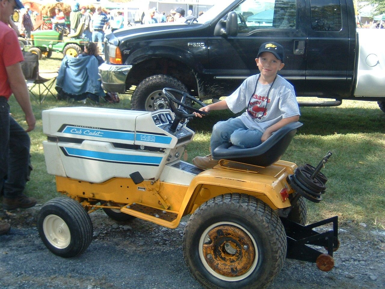The 1450 Monster Trucks Lawn Tractor Riding Lawnmower