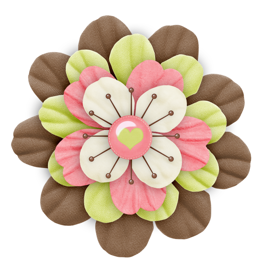 beautiful flower embellishment for cards or packages love