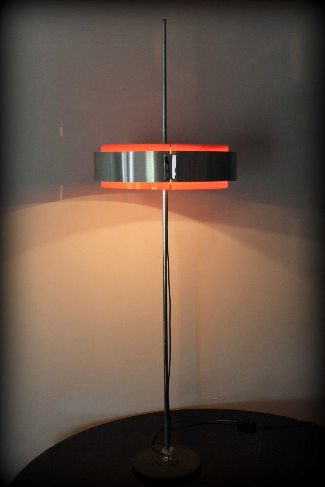 Oranje Vintage Design Vloerlamp Gepo Lampen Amsterdam Vloerlamp Lampen Vintage