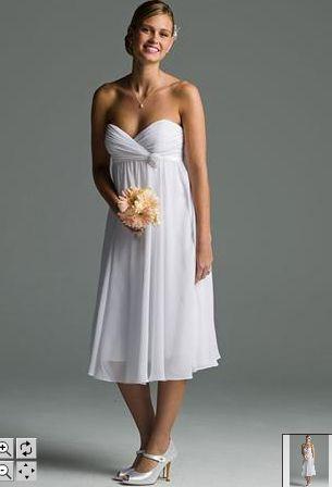 Chiffon Tea Length Wedding Dress - Ocodea.com