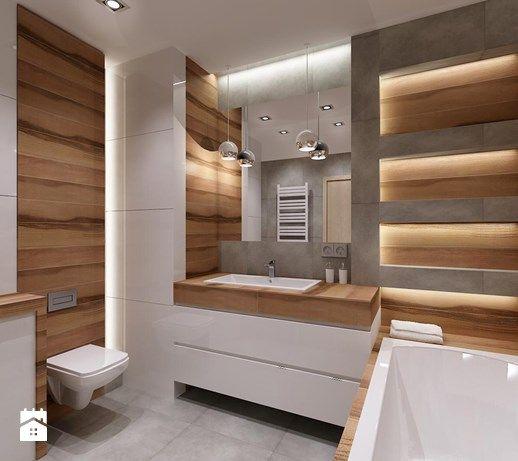 Aranżacje Wnętrz łazienka łazienka Drewno Plus Szarość