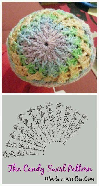 lo spazio di lilla  Schemi di cappelli all uncinetto   Crochet hats diagrams 367e9bb36927