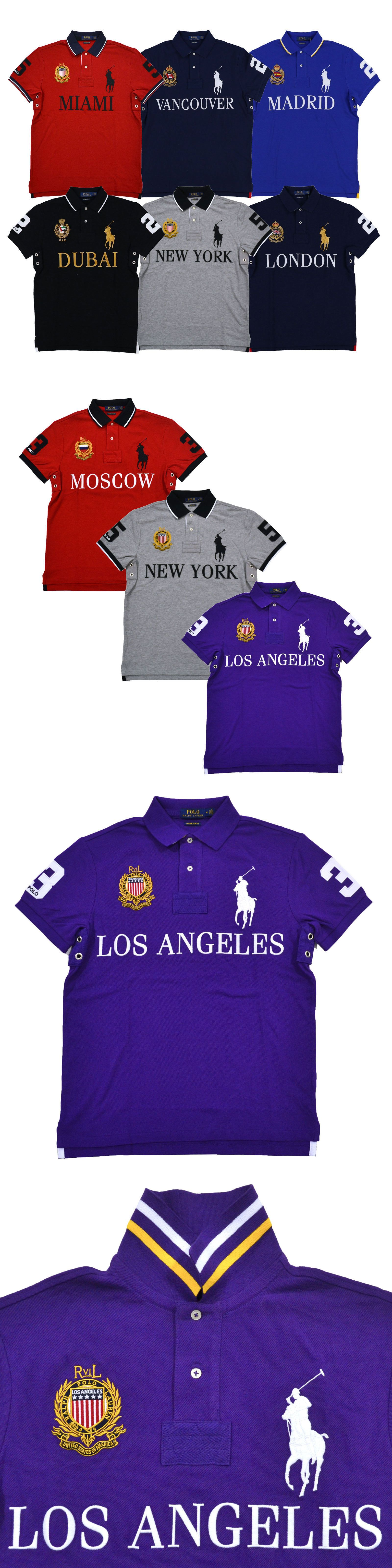 d64d342c Polos 185101: Polo Ralph Lauren Big Pony City Polo Shirt Men Custom Slim Fit  Mesh Knit New Nwt -> BUY IT NOW ONLY: $86.99 on #eBay #polos #ralph #lauren  ...