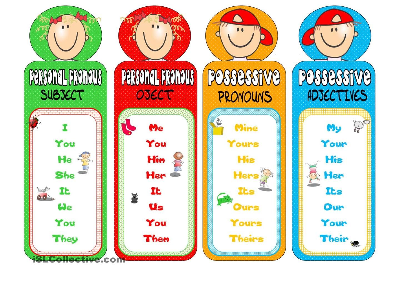 Bookmarks Pronous