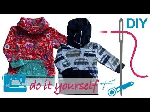 DIY Shirt nähen für Anfänger – Shirt mit Kapuze oder