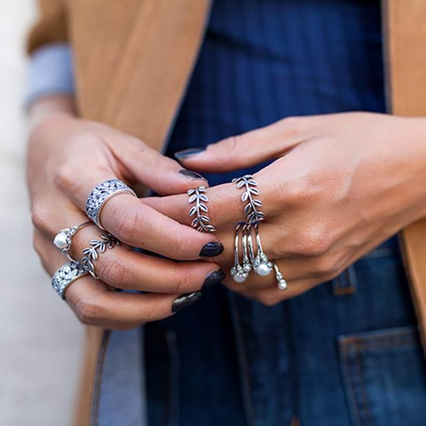0b373812c Layers of #PANDORA rings never looked so good | All Things Rings ...