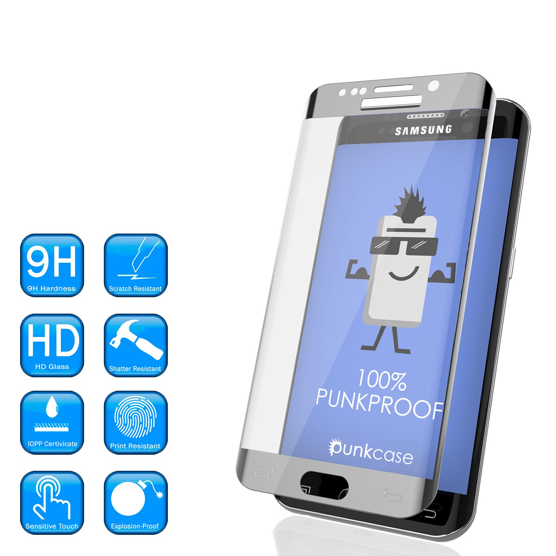 Galaxy S7 Edge Silver Punkcase Glass Shield Tempered Glass Screen