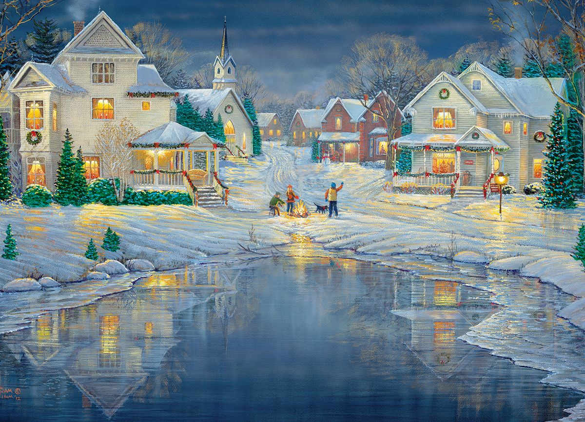 Evening Light by Sam Timm. 1000Piece Puzzle Christmas