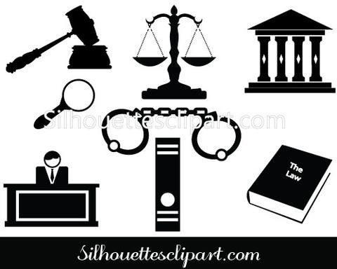 Silhouette Of Gavel Hammer Of Judge Courthouse Silhouette Clip Art Clip Art Law School Gift