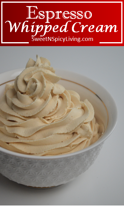 Espresso Whipped Cream Frosting, Silky Smooth and Fluffy!