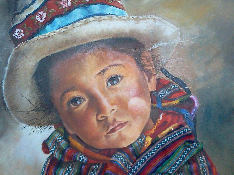 Oleo De Graciela Marcos Arte Peruano Pinturas Románticas Dibujos