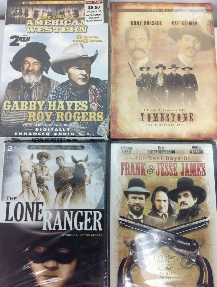 Lot Of 4 Western Dvd Tombstone The Last Days Of Frank Jesse