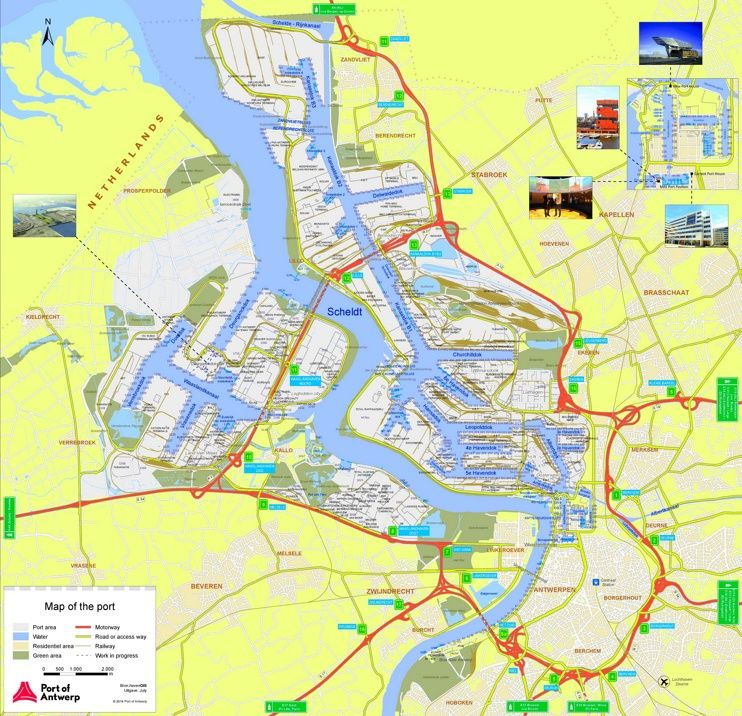Port of Antwerp map Maps Pinterest Antwerp Belgium and City