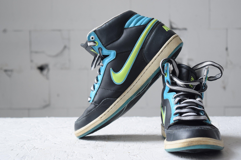 Vintage Nike High Top Skate Shoes Black Trainers Women S Sport Shoes Hiphop Shoes Eur 38 5 Athletic Shoes Tie Sneakers In 2020 Sport Shoes Women Hip Hop Shoes Vintage Nike