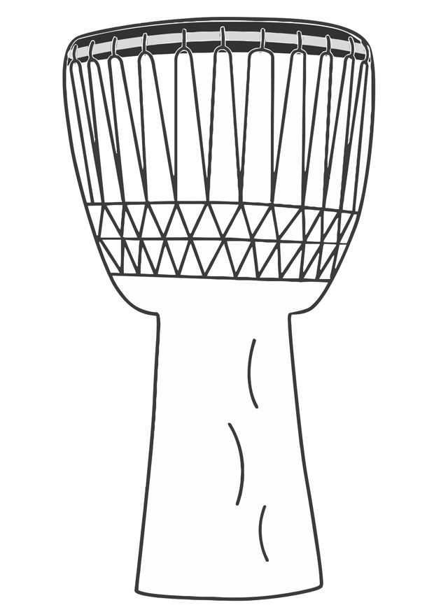 Coloring Sheet Of A Djembe Drum Giochi E Colori Dis Animal