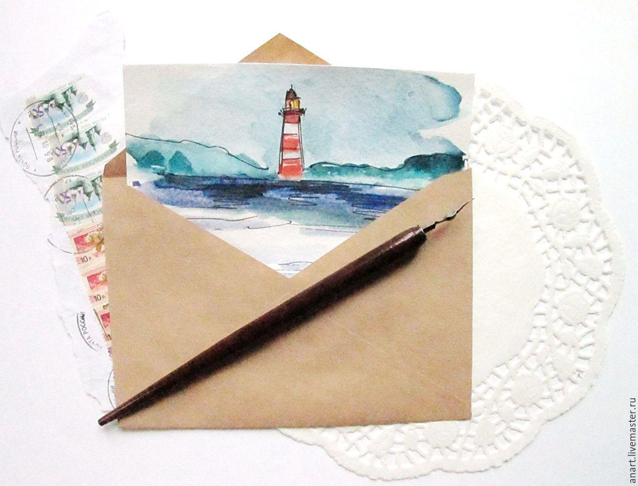 Бумага открытка акварель, сделать