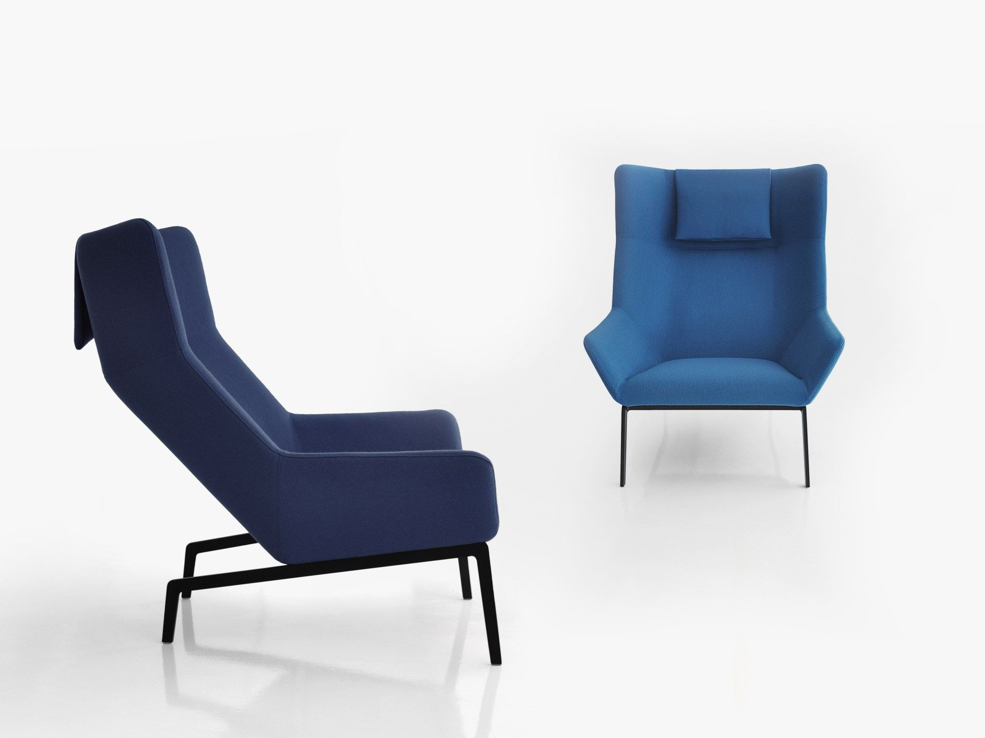Upholstered Armchair With Footstool PARK Park Collection By BENSEN