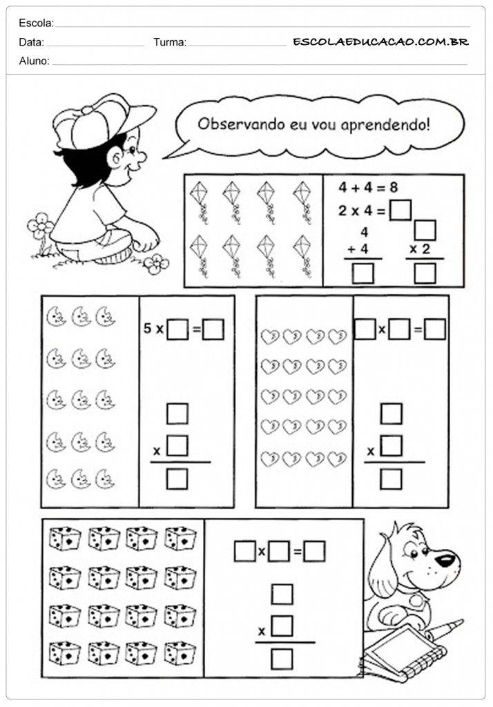Top Atividades de Matemática 3º ano - Contas matemáticas | marcelli  YZ06