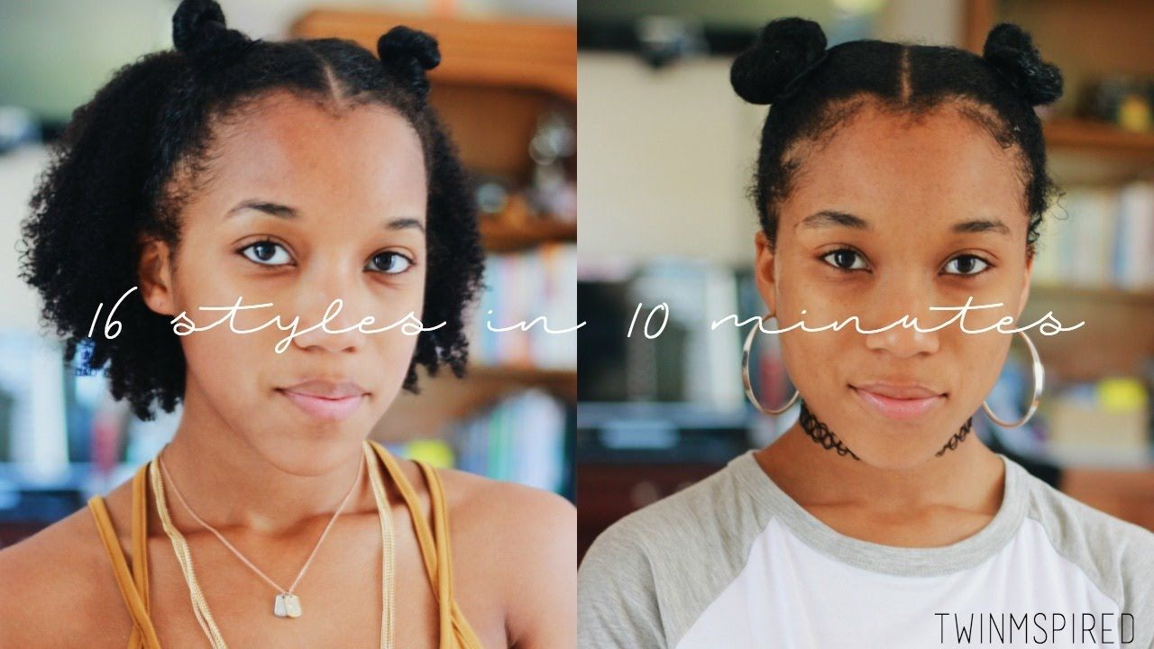 16 Easy Styles For Short Natural Hair In 10 Minutes Video Short Natural Hair Styles Natural Hair Styles For Black Women Medium Natural Hair Styles