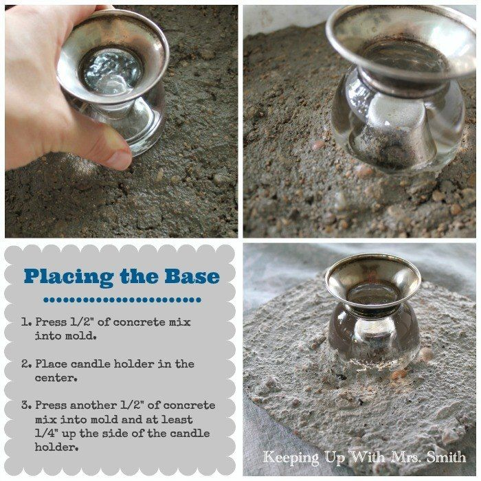 How to Make A Beautiful Concrete Cake Stand
