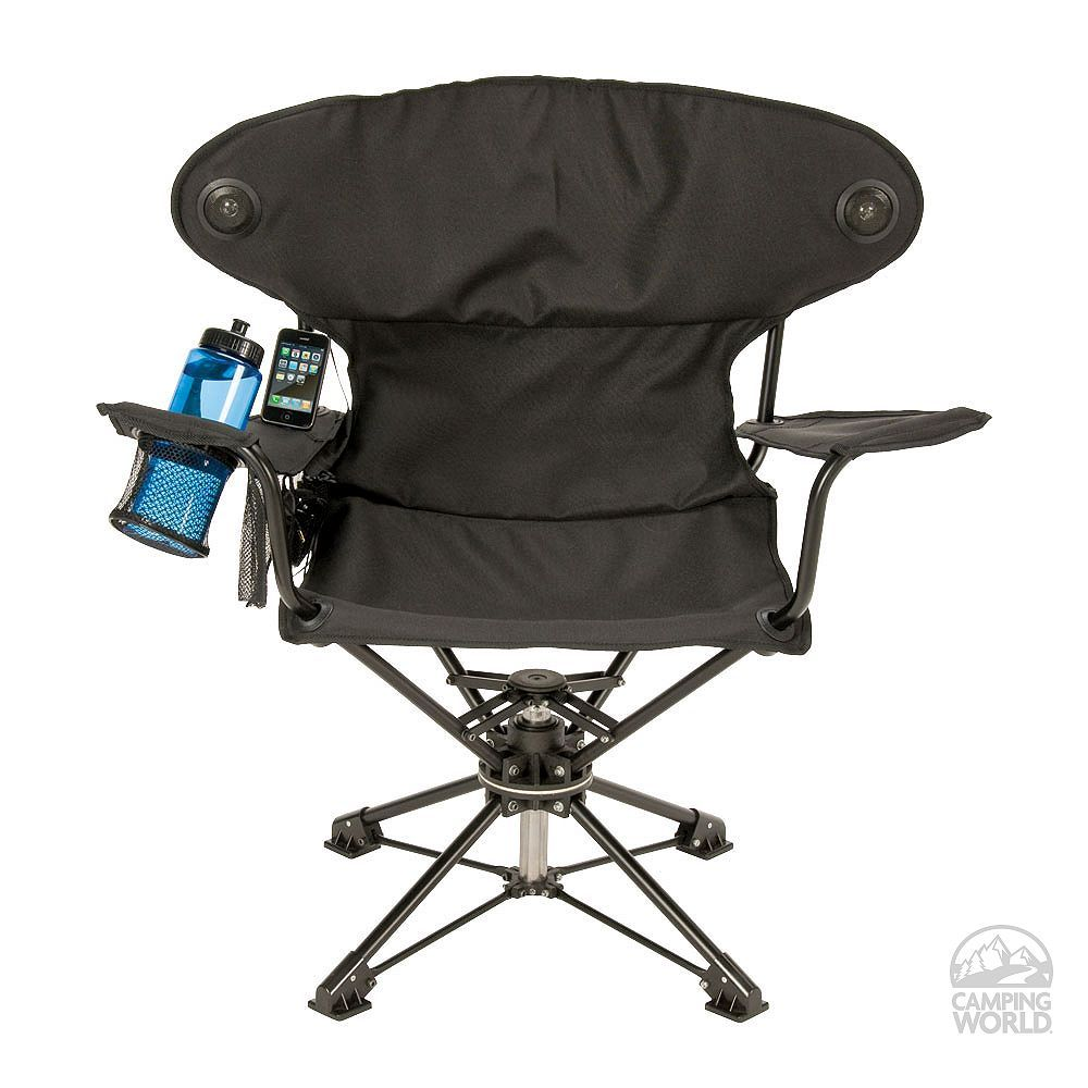 REvolve Chair   Swiveling Portable Chair With Speakers.for Camping