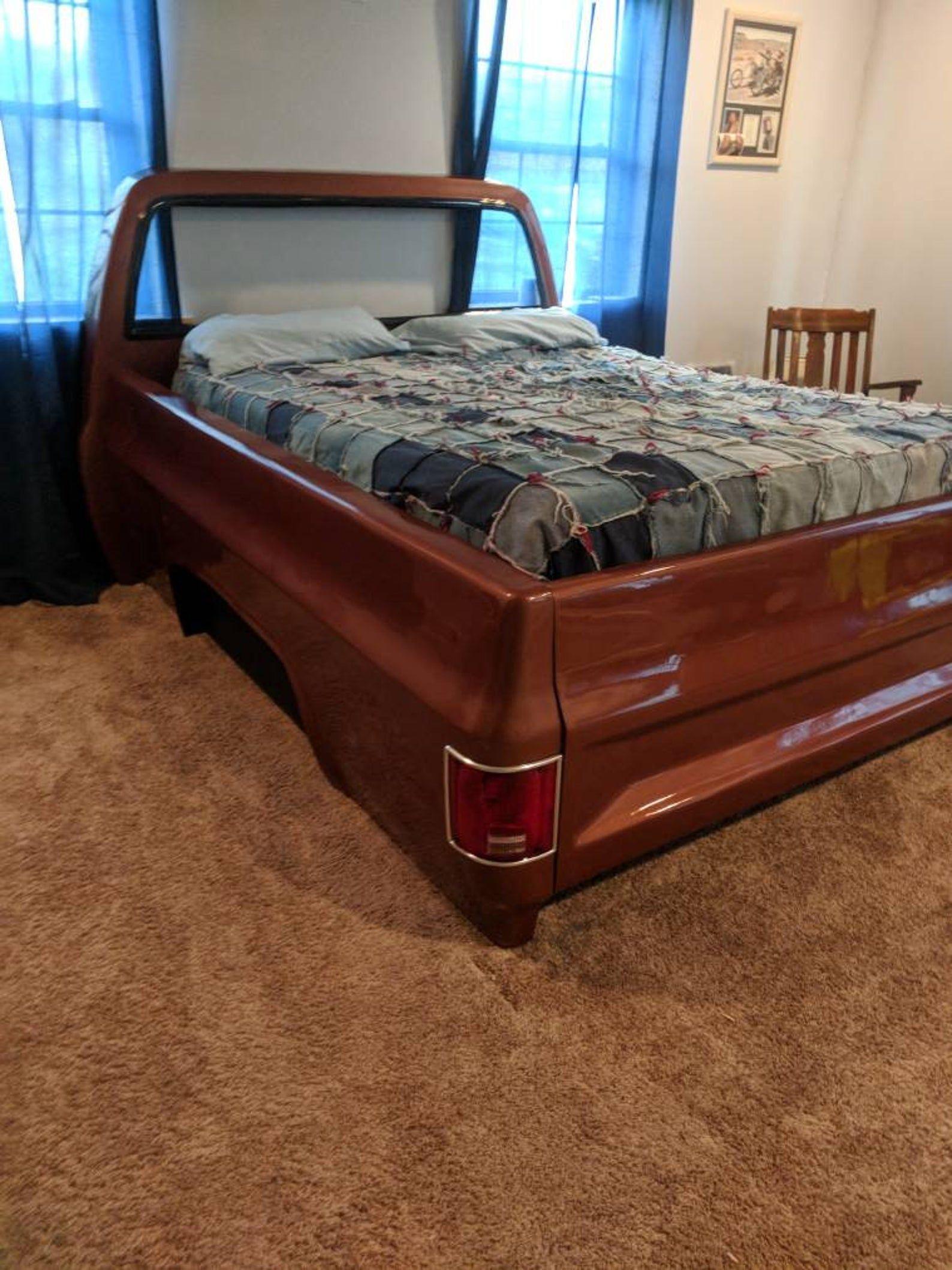 Queen Size Square body bed mancave decor garage furniture