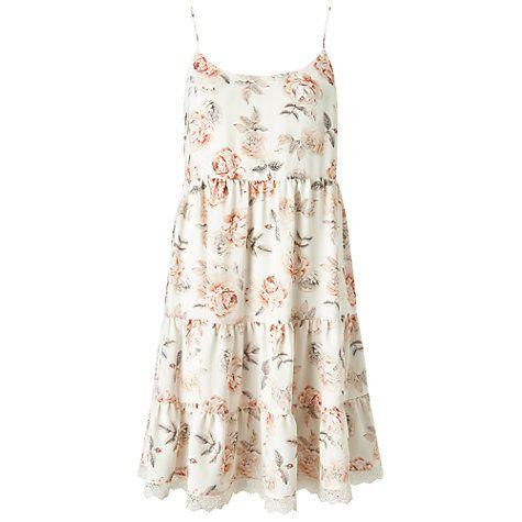 Buy Miss Selfridge Floral Tier Sundress, Multi Online at johnlewis.com
