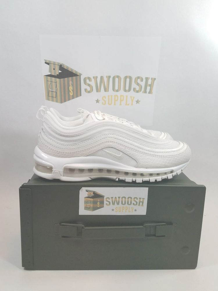 the latest 6f74a d6aa6 Nike Air Max 97 921826-100 Summit White Brand Mens Size 8 Snake Nike  AthleticSneakers
