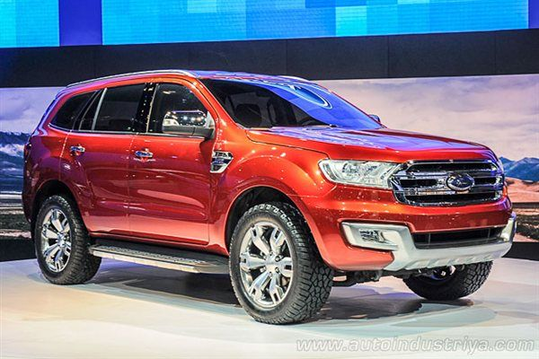 2015 Ford Everest Red Color Suv With Images Ford Endeavour