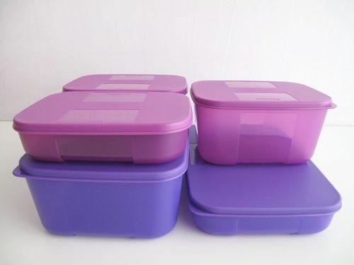 TUPPERWARE Kühlschrank-System LILA (5) Dosen Boxen | eBay