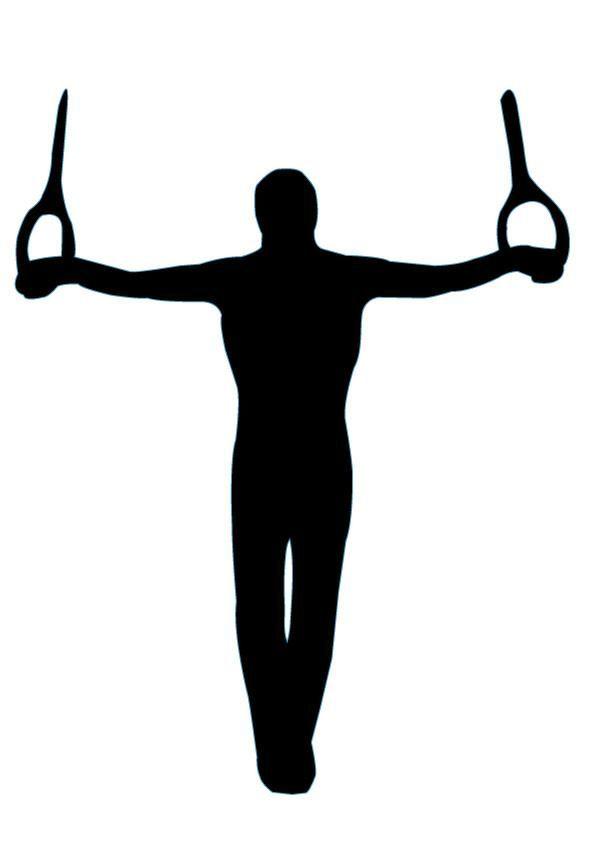 gymnastics silhouette 5 silhouettes pinterest gymnastics rh pinterest co uk gymnastics clipart silhouette gymnastics clipart silhouette