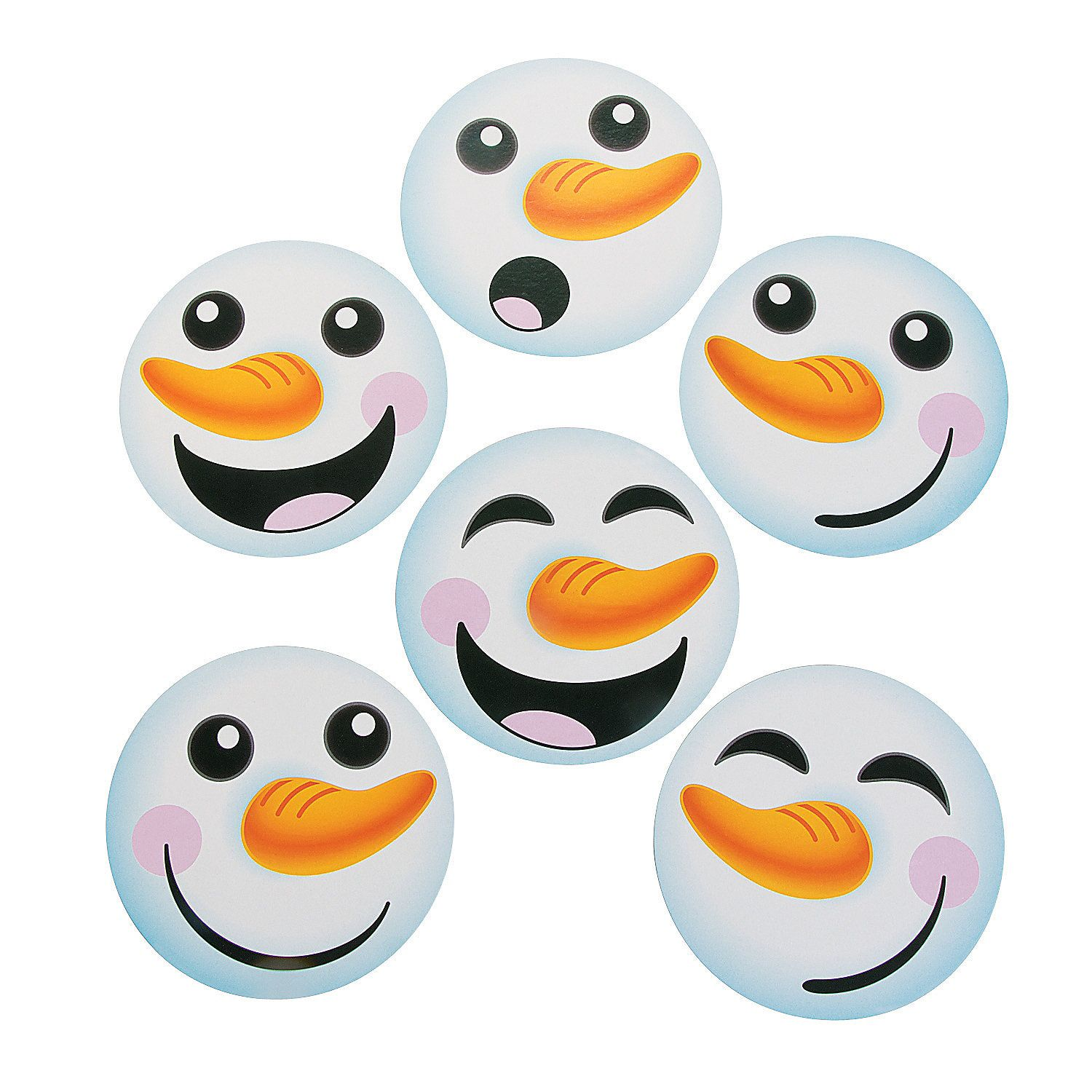 Use these to make Olaf treat bags Snowman Face Bulletin Board