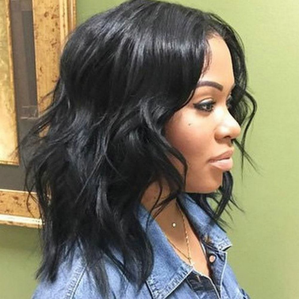 Best Medium Wavy Weave Hairstyle Black Women Wig Hairstyles
