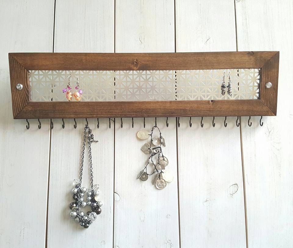 Jewelry Rack Wood Modern Jewelry Rack Jewelry Display Necklace