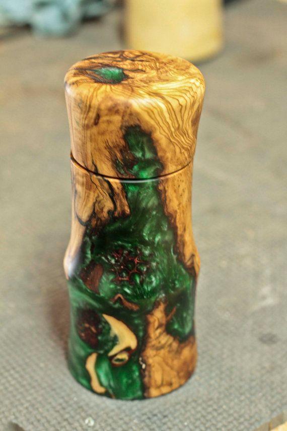 Olive Wood And Resin Salt Or Pepper Grinder By