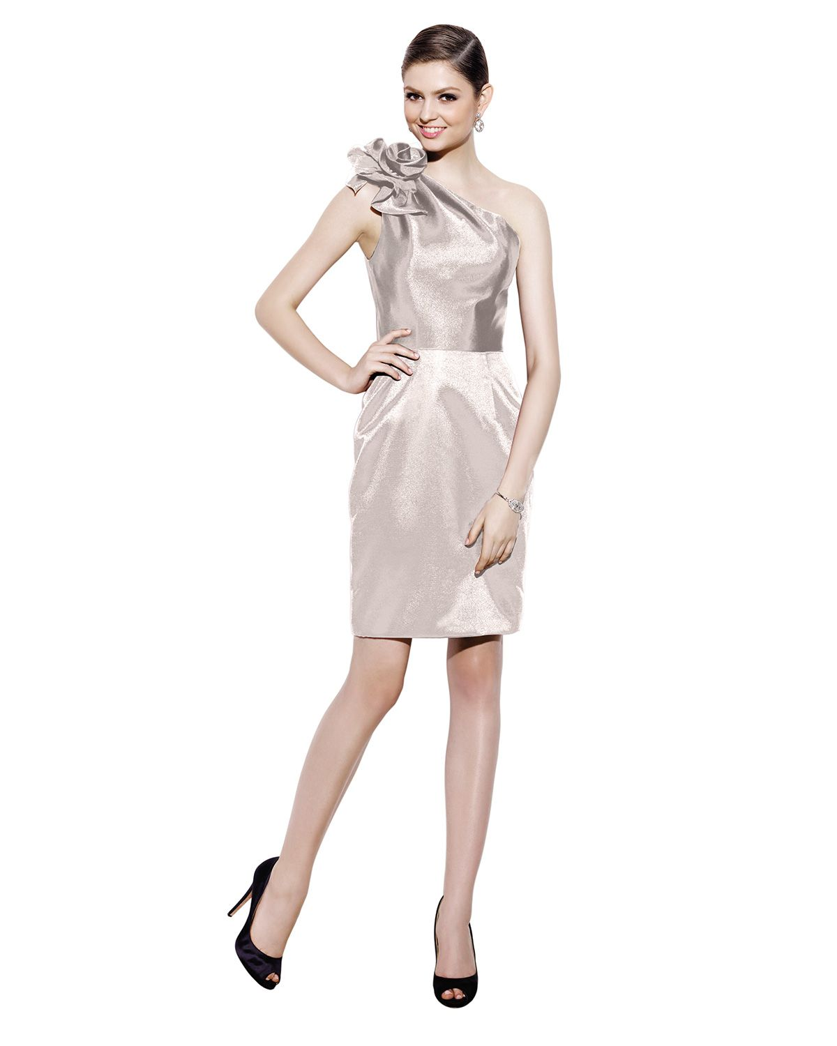 Badgley mischka bm10sh flower one shoulder short bridesmaids dress badgley mischka bm10sh flower one shoulder short bridesmaids dress now available at the official ombrellifo Gallery