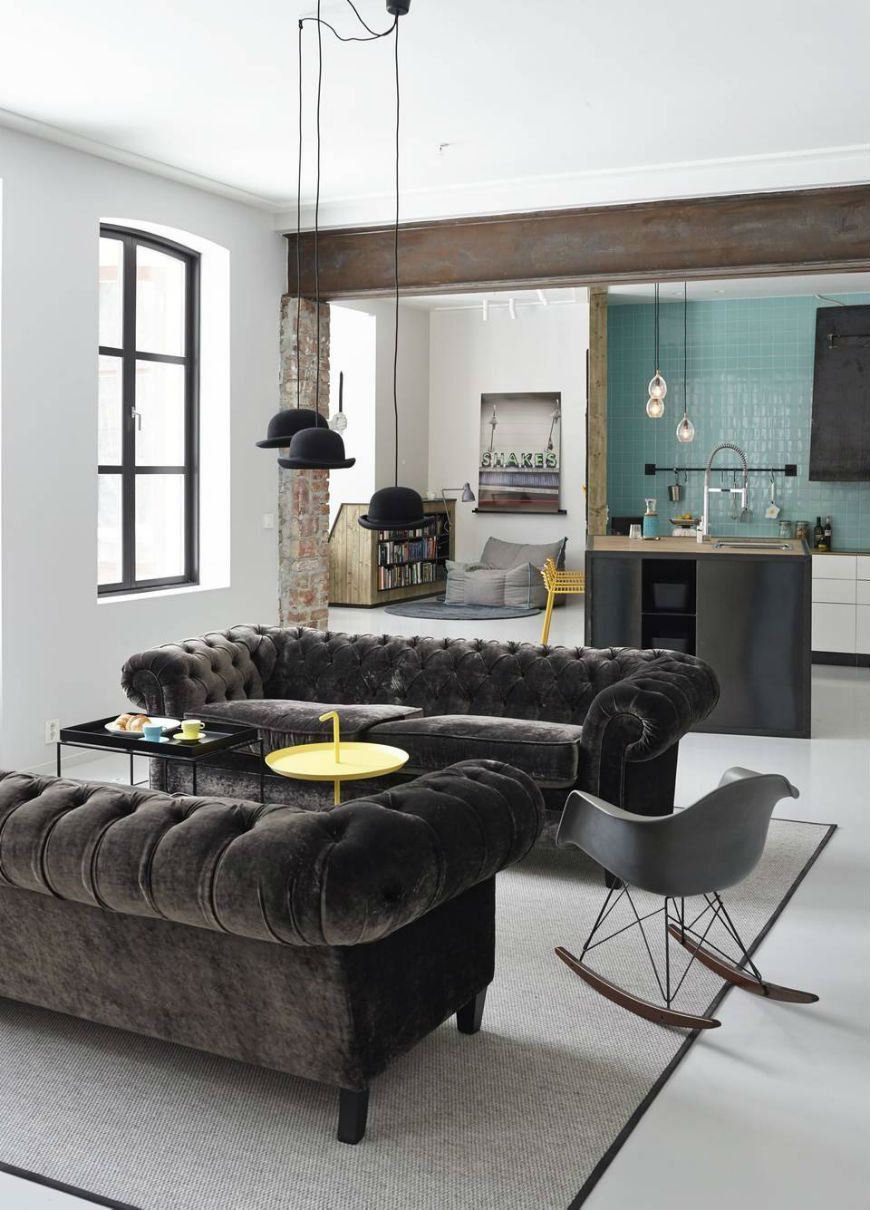 Chesterfield Wohnzimmer Chesterfield Sofa Modern Interior Design Design Minimalist Home