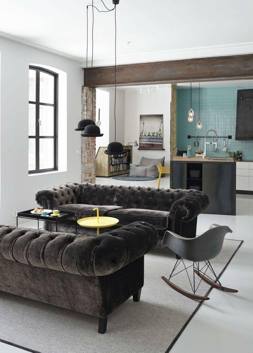 chesterfield sofa modern interior design | Chesterfield sofa, Modern ...