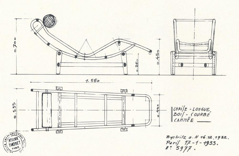 Shezlong Lc4 Chaise Longue Le Corbusier Le Korbyuze 1928 Mykinglist Com Iconic Furniture Design Corbusier Furniture Le Corbusier Furniture