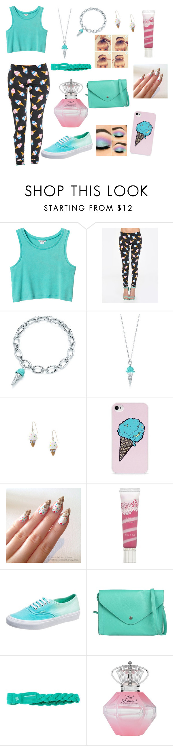 """ICE CREAM!!!!!!!!"" by cheer02 ❤ liked on Polyvore featuring Monki, ZooShoo, BlissfulCASE, Paul & Joe, Vans, ONLY and Athleta"