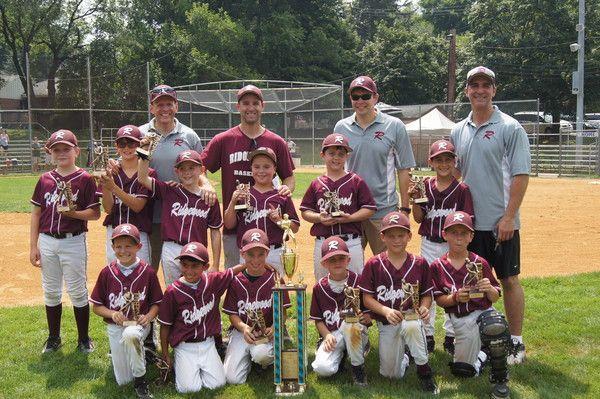 2012 Summer 8u Champs Ridgewood Raiders Baseball League Youth Baseball All Star