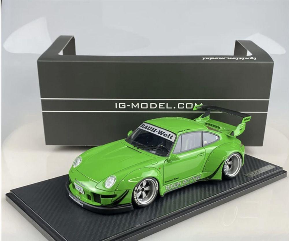 1 18 Scale Rwb 993 Rough Rhythm Green Model Car By Ignition Model Ignitionmodel Porsche Car Model Ignition Model Diecast Model Cars